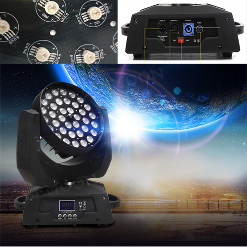 36 LED  Zoom Wash Moving Head