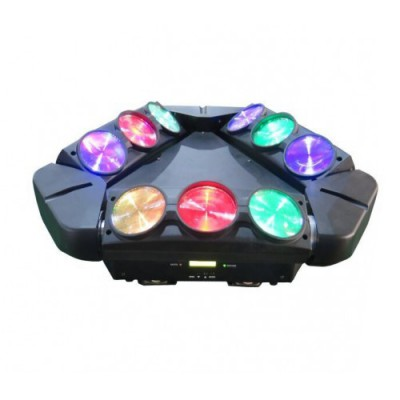 9 LED Triangle Moving Head