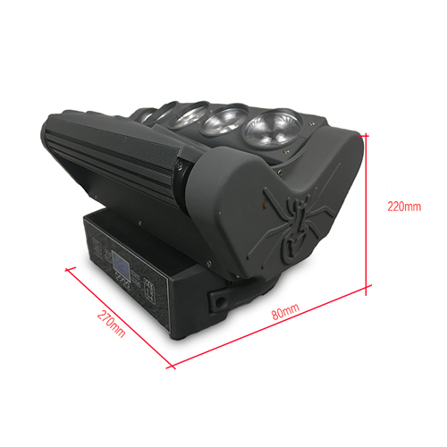 LED Spider 8 x 10w Moving Head (2-axis Full)