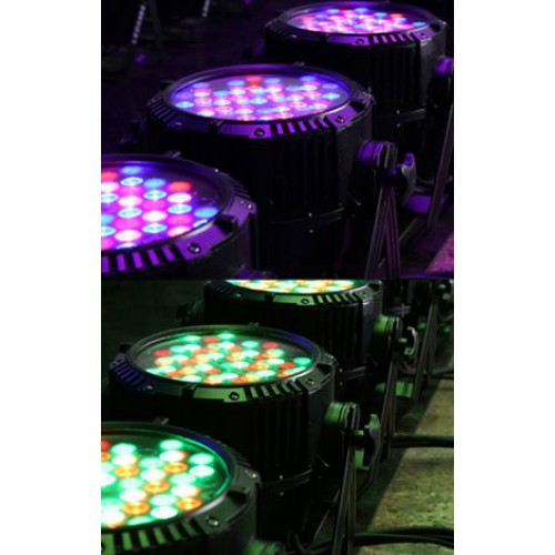 ไฟพาร์ LED 54 RGBW กันน้ำ [ 54 LED Par Light - Waterproof RGBW IP65 ]