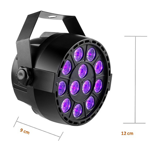 "LED ""Par 12 x 3w Blacklight UV"""