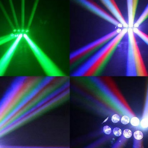 LED Spider 8 x 10w Moving Head (1-axis Full)